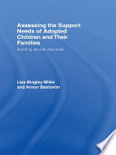 Assessing the Support Needs of Adopted Children and Their Families Book PDF