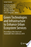 Green Technologies And Infrastructure To Enhance Urban Ecosystem Services Book PDF