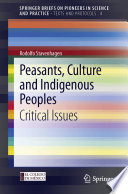 Peasants Culture And Indigenous Peoples Book PDF