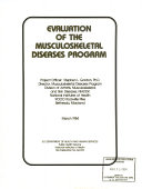 Evaluation of the Musculoskeletal Diseases Program