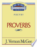 Thru The Bible Vol 20 Poetry Proverbs