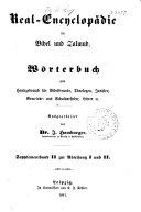Real-encyclopädie für Bibel und Talmud: Supplementband 2 und 3 zur abt. 1 und 2