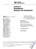 Journal of Rehabilitation Research   Development Book