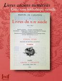 MANUEL DE L'AMATEUR DE LIVRES DU XIXème