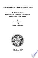 Lexical Studies of Medieval Spanish Texts