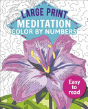 Large Print Meditation Color by Numbers