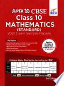 Super 10 CBSE Class 10 Mathematics  Standard  2021 Exam Sample Papers 3rd Edition