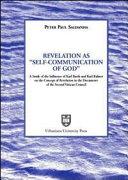 "Revelation as ""self-communication of God"""