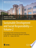 Sustainable Development and Social Responsibility   Volume 2