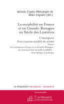 Pdf La sociabilité en France et en Grande-Bretagne au siècle des Lumières. Tome I Telecharger