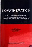 Portonovo Conferences  I  on Endocrine Pharmacology  Compartmental Models and Control Systems  September 2 7  1974  II  on Biomathematics  September 27 28  1978