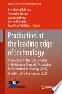 Production at the leading edge of technology Book