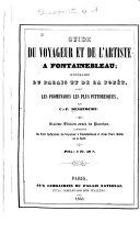 Guide de voyageur et de l'artiste a Fontainebleau