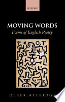 Moving Words  Forms of English Poetry Book
