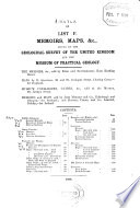 Memoirs  Maps   c   Issued by the Geological Survey of the United Kingdom and the Museum of Practical Geology