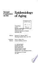 Second Conference on the Epidemiology of Aging