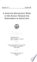 A Guide for Exploratory Work in the Kansas Program for Improvement of Instruction