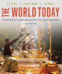 The World Today  Concepts and Regions in Geography 6e   WileyPLUS Registration Card