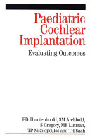 Cover of Paediatric cochlear implantation