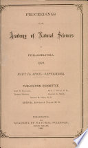 Proceedings Of The Academy Of Natural Sciences Part Ii Apr Sept 1893