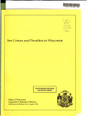 Sex Crimes and Penalties in Wisconsin Book