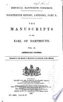 The Manuscripts of the Earl of Dartmouth