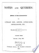 Notes And Queries A Medium Of Inter Communication For Literary Men Artists Antiquaries Genealogists Etc
