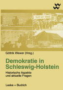 Demokratie in Schleswig-Holstein