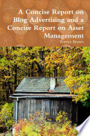A Concise Report On Blog Advertising And A Concise Report On Asset Management