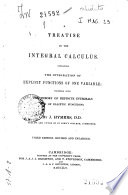 A Treatise On The Integral Calculus