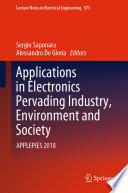 Applications in Electronics Pervading Industry  Environment and Society