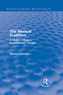 Pdf The Radical Tradition (Routledge Revivals) Telecharger