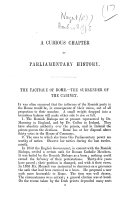 A Curious Chapter in Parliamentary History. The tactique of Rome.-The surrender of the Cabinet