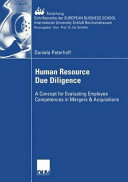 Human Resource Due Diligence