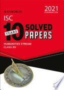 10 Years Solved Papers Commerce Isc Class 12 For 2021 Examination