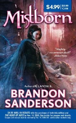 Book cover of 'Mistborn' by Brandon Sanderson