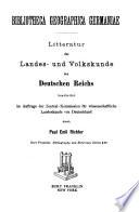 Bibliotheca geographica Germaniae
