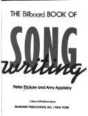 The Billboard Book Of Song Writing