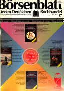 Börsenblätter für den deutschen Buchhandel