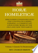 Horae Homileticae Volume 1