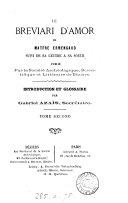 Le Breviari d'amor de Matfre Ermengaud, suivi de sa lettre à sa soeur. Intr. et glossaire par G.Azaïs