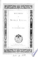 Records Of Noble Lives