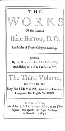 The Works of     Isaac Barrow     Published by the Reverend Dr  Tillotson     The Second Edition