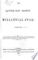 The Latter Day Saints  Millennial Star Book