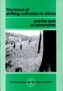 Pdf The Future of Shifting Cultivation in Africa and the Task of Universities