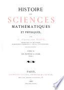 Histoire Des Sciences Mathématiques Et Physiques: De Newton à Euler