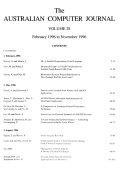 Australian Computer Journal