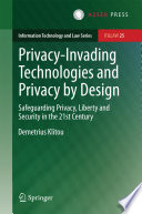 Privacy Invading Technologies And Privacy By Design