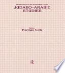 Judaeo-Arabic Studies