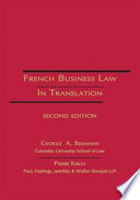 French Business Law In Translation